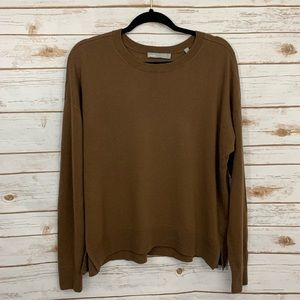 Vince  Wide Neck 100% Cashmere Cropped Sweater